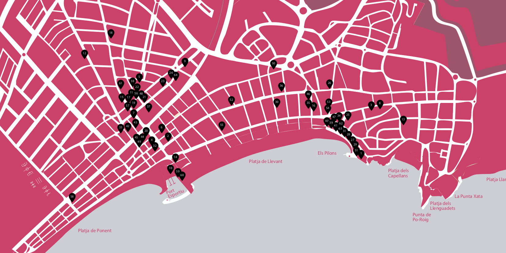 Mapa Gastrotour 2018